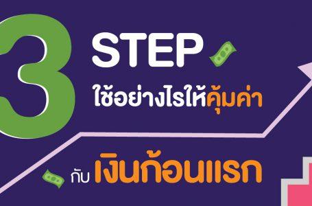 3 Step ใช้เงินอย่างไรให้คุ้มค่ากับเงินก้อนแรก