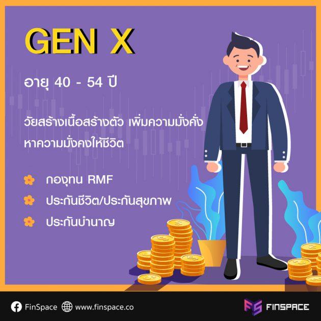 ลงทุน Gen X