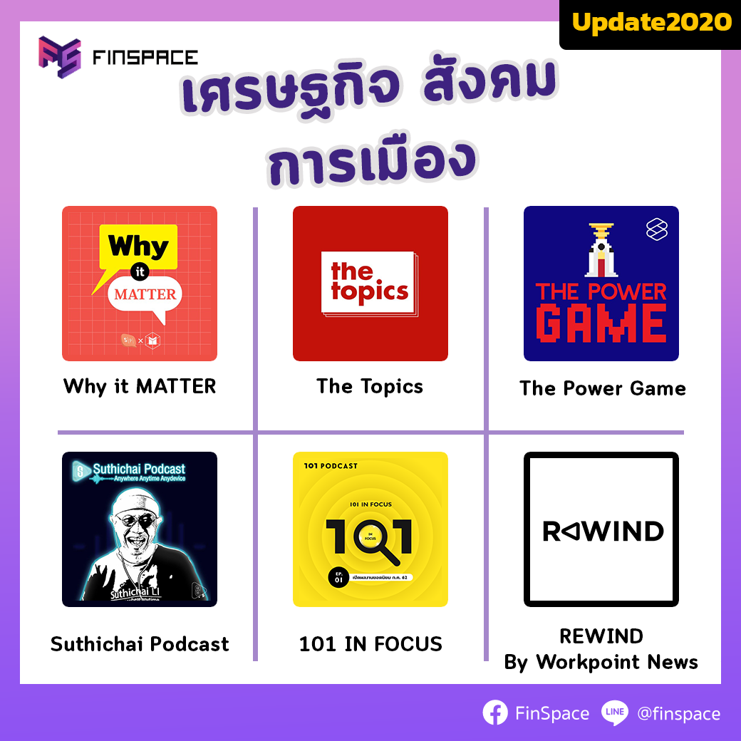 podcast เศรษฐกิจ สังคม การเมือง