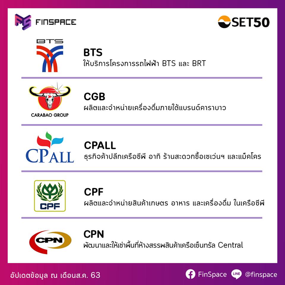 BTS CBG CPALL CPF CPN