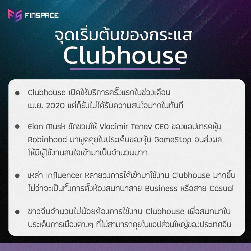 จุดเริ่มต้นของกระแส Clubhouse