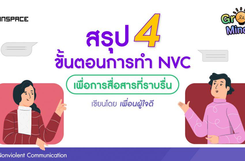 สรุป 4 ขั้นตอนการทำ Nonviolent Communication (NVC) เพื่อการสื่อสารที่ราบรื่น